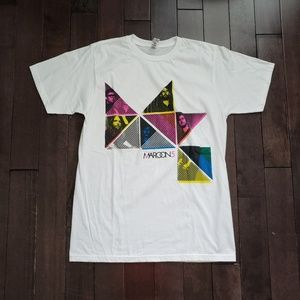 Maroon 5 White Concert Tour Shirt 2011